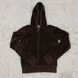 Y2K Juicy Couture Brown Velour Hoodie